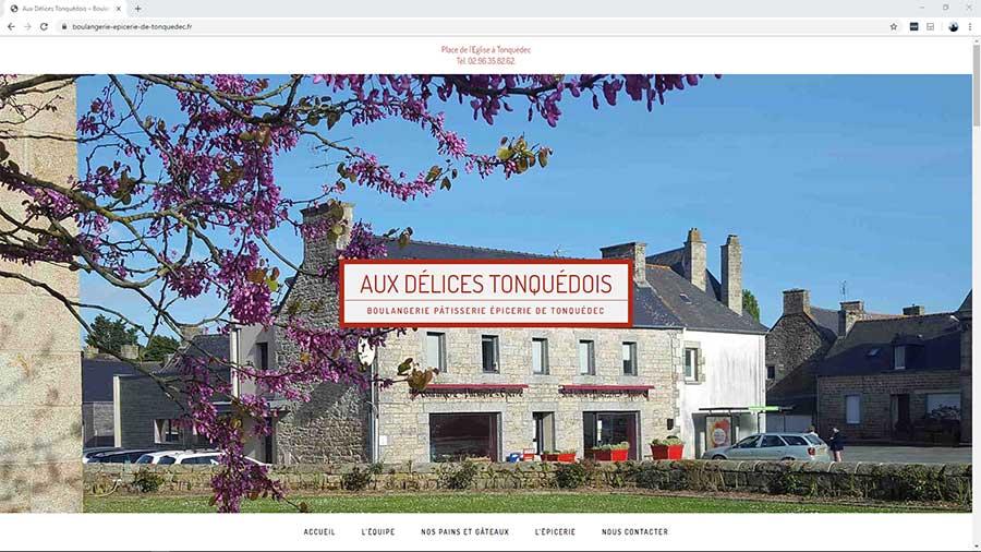 Création du site internet de la boulangerie pâtisserie épicerie de Tonquédec, dans les Côtes d'Armor
