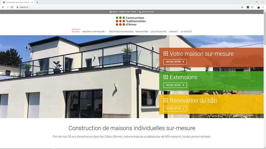 Creation du site internet de Constructions Traditionnelles d'Armor à Lannion - BreizhPress