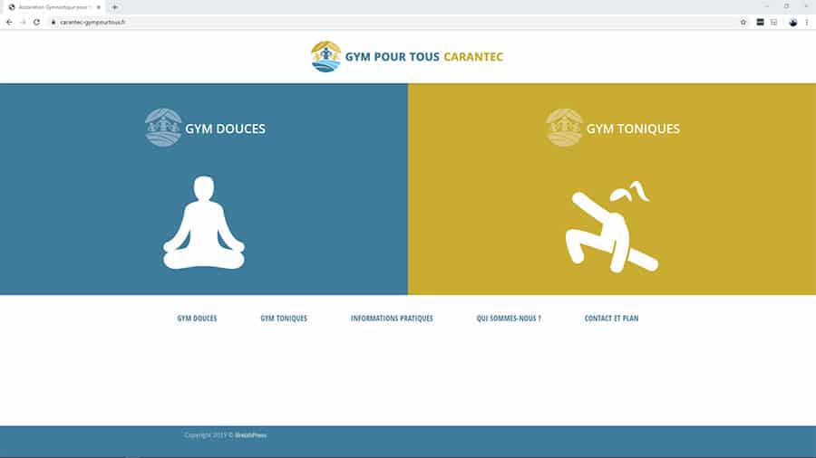 création site internet gym pour tous Finistere BreizhPress