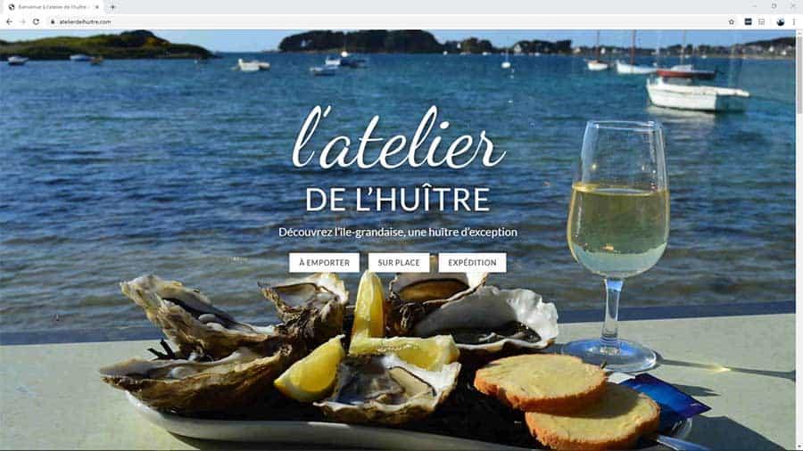 Creation du site internet de 'L'ATelier de l'Huître à Trébeurden - BreizhPress