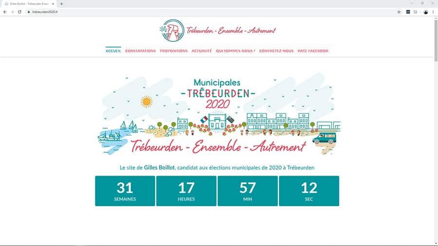 Création du site internet de Gilles Boillot, candidat aux élections municipales à Trébeurden pour 2020