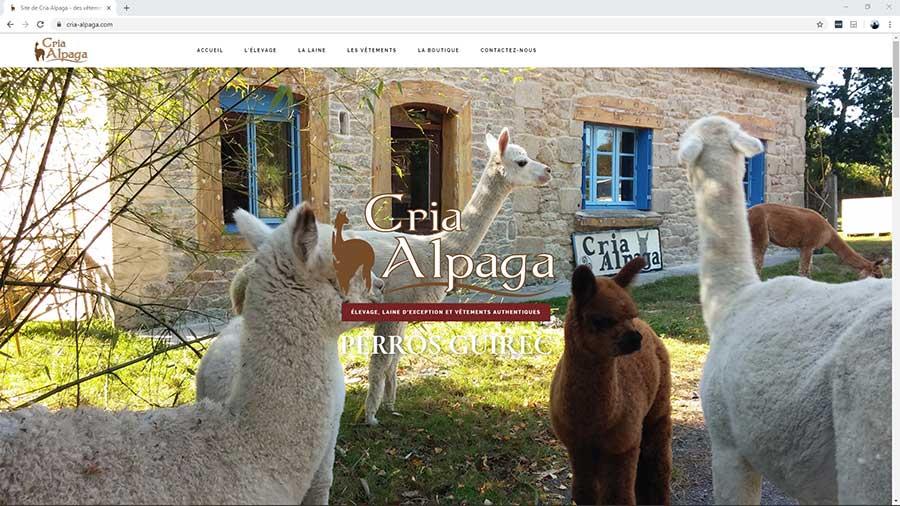 Creation du site internet de Cria Alpaga à Perros Guirec - BreizhPress