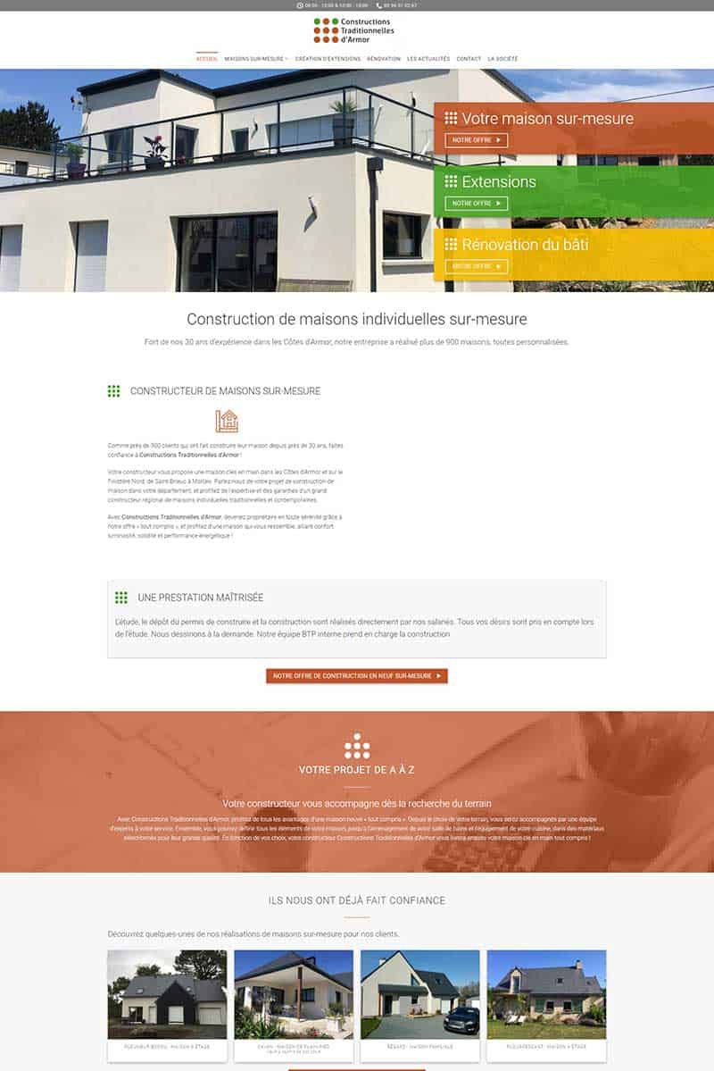 Creation de site internet Finistere Cotes d'Armor