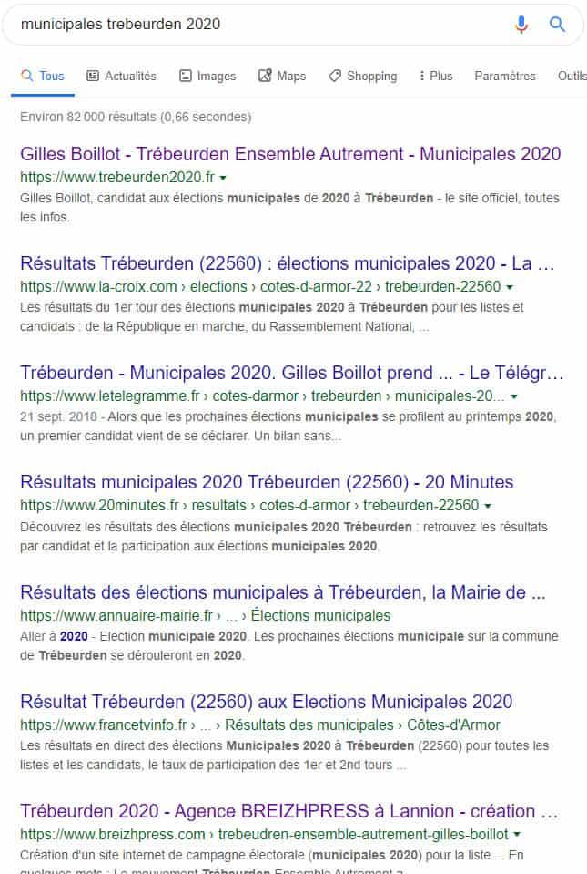 site internet elections municipales trébeurden 2020