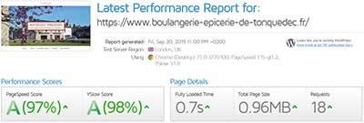 performances site internet boulangerie tonquedec