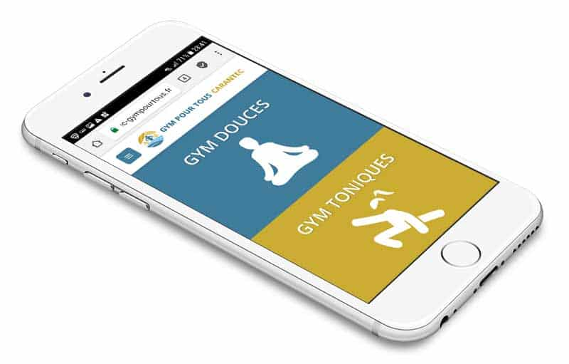 site internet mobile gym pour tous Carantec Finistere