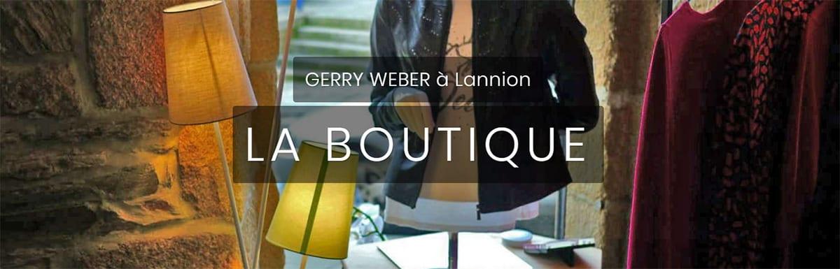 Site internet Gerry Weber Lannion - cas client