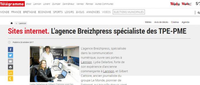 Le quotidien Le Télégramme parle de BreizhPress