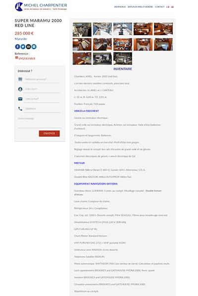 Site internet bilingue annonce