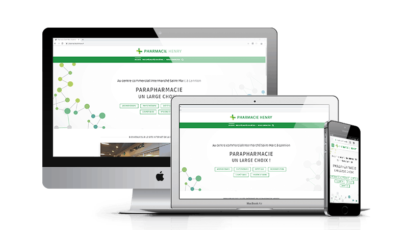 Creation site internet de la pharmacie Henry