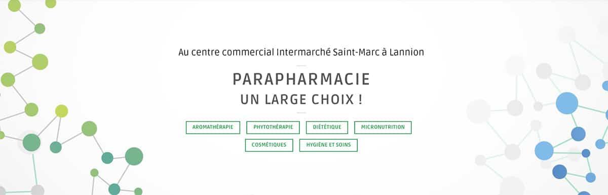 Site internet de la pharmacie Henry à Lannion