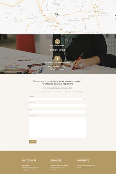 création du site Gerry Weber Lannion - page contact