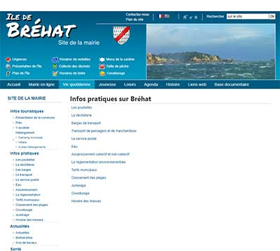 ancien site internet Brehat